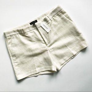 BANANA REPUBLIC Metallic Gold / Cream Clean Shorts